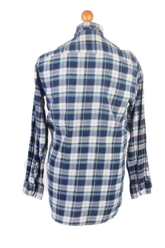 Vintage Flannel Check Shirt South West L Blue SH3616-102446