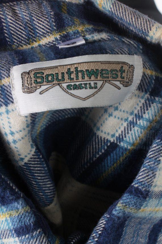 Vintage Flannel Check Shirt South West L Blue SH3616-102447