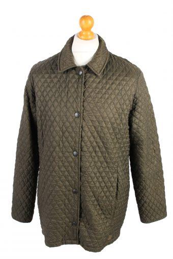 Vintage MEN'S Barbour Bardon Quilted Jacket L Green