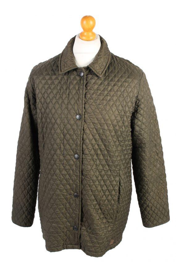 Vintage MEN'S Barbour Bardon Quilted Jacket L Green -C1358-0