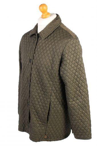 Vintage MEN'S Barbour Bardon Quilted Jacket L Green -C1358-104065
