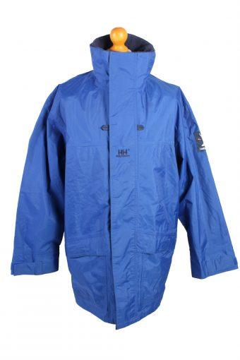 Vintage Helly Hansen Waterproof Rain Coat S Blue