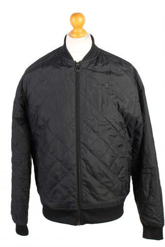 Vintage Adidas Sport Zipper Casual M Black