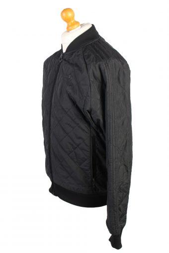 Vintage Adidas Sport Zipper Casual M Black -C1371-104117