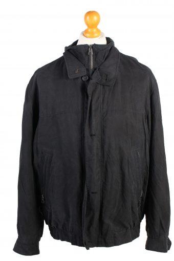 Vintage Daniel Hechter Lightweight Jacket Coat L Black
