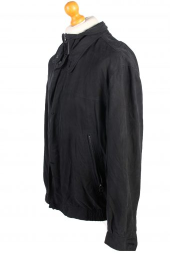 Vintage Daniel Hechter Lightweight Jacket Coat L Black -C1378-104145