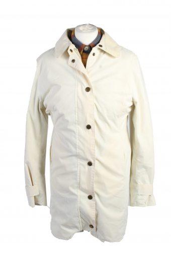 Vintage Barbour Coat Jacket Women Waterproof S White