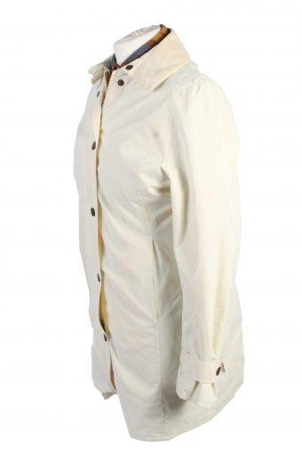 Vintage Barbour Coat Jacket Women Waterproof S White -C1384-104169
