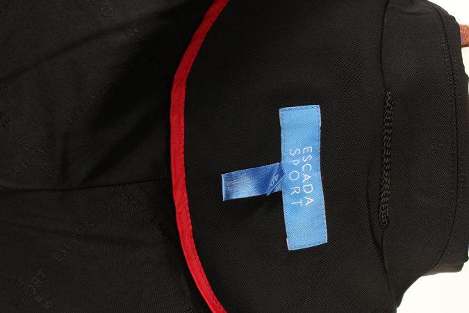 Vintage Escada Ladies Blazer Jacket Designer M Black -C1398-104241