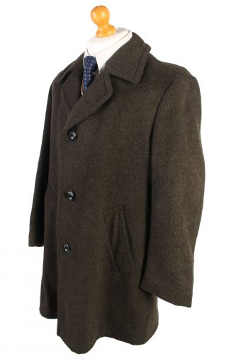 Vintage Le Tailler Wool Jacket Winter XL Khaki -C1466-105752