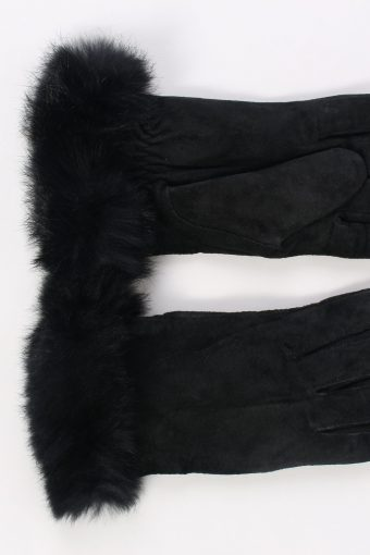 Vintage Leather Gloves Driving Smart 6 inches Black