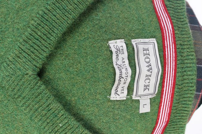 Vintage Howick Jumper Casual Pullover S Green -IL1654-104588