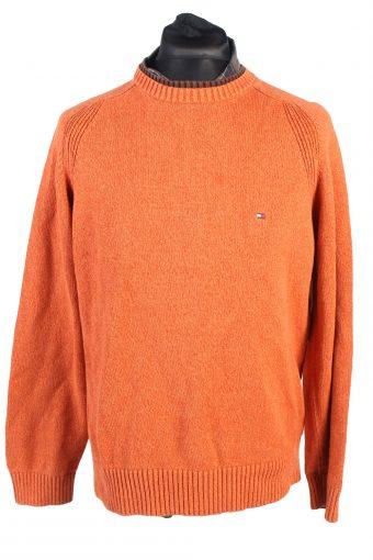 Tommy Hilfiger Casual Jumper Cotton Long Sleeve Orange L