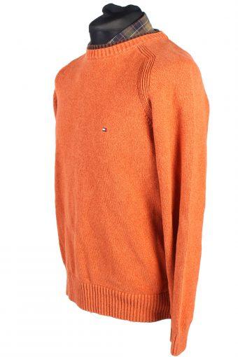 Vintage Tommy Hilfiger Casual Jumper Cotton Long Sleeve L Orange -IL1725-104936