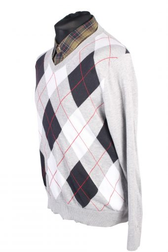 Vintage Tommy Hilfiger Winter Jumper Long Sleeve M Grey -IL1726-104940