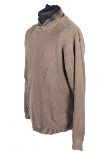 Tommy Hilfiger Vintage Casual Jumper Winter Long Sleeve L Beige -IL1729-104952