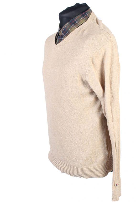 Vintage Tommy Hilfiger Catton Jumper Winter Long Sleeve M Beige -IL1731-104956