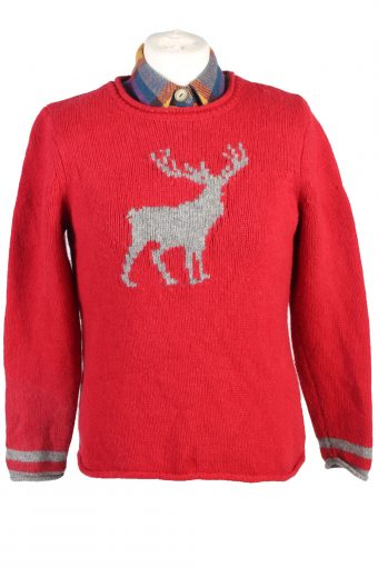 90s Retro Claiborne Jumper Long Sleeve Red L
