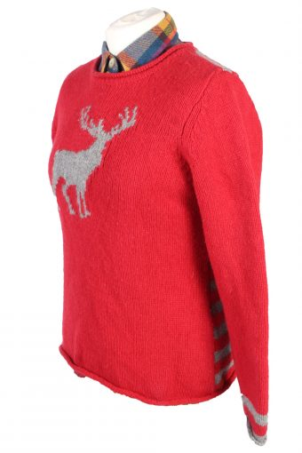 Vintage Claiborne Casual Jumper Long Sleeve L Red -IL1742-104992
