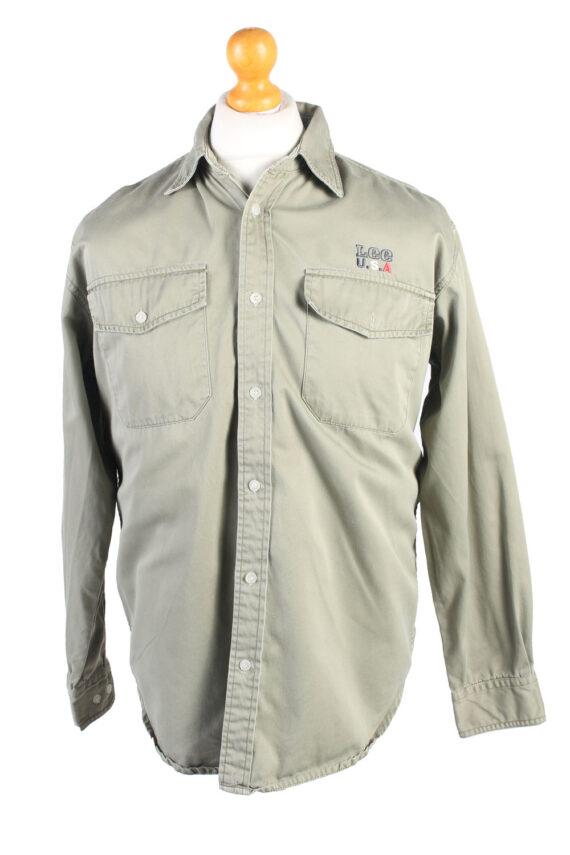 Vintage Lee Denim Shirt Brooklyn M Green SH3637-0