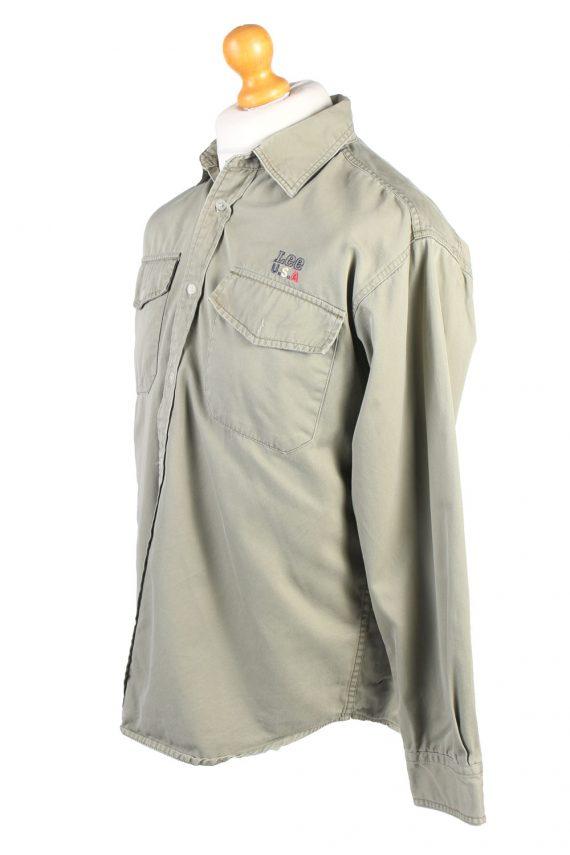 Vintage Lee Denim Shirt Brooklyn M Green SH3637-105066