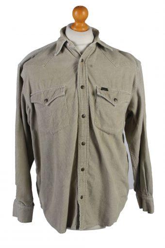 Lee Corduroy Shirt 90s Retro Cream S