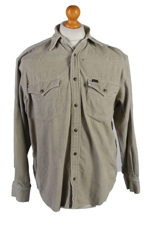 Vintage Lee Corduroy Shirt Casual S Cream SH3649-0