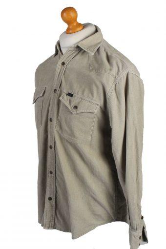 Vintage Lee Corduroy Shirt Casual S Cream SH3649-105114