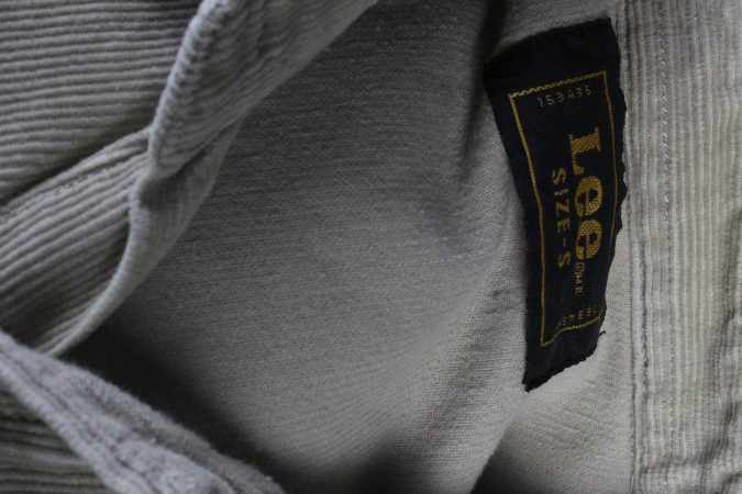 Vintage Lee Corduroy Shirt Casual S Cream SH3649-105116