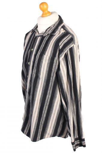 Vintage Corduroy Printed Shirt Vesta Britpop L Multi SH3666-105197
