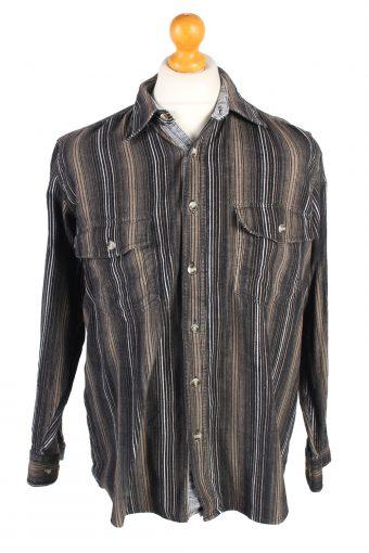 Corduroy Printed Shirt 90s Retro Multi L