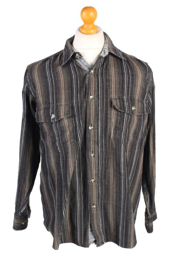 Vintage Corduroy Printed Shirt Majester Britpop M Multi SH3668-0