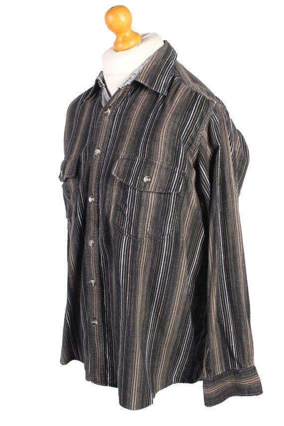 Vintage Corduroy Printed Shirt Majester Britpop M Multi SH3668-105205