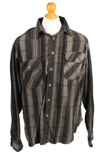 Corduroy Printed Shirt 90s Retro Multi XL