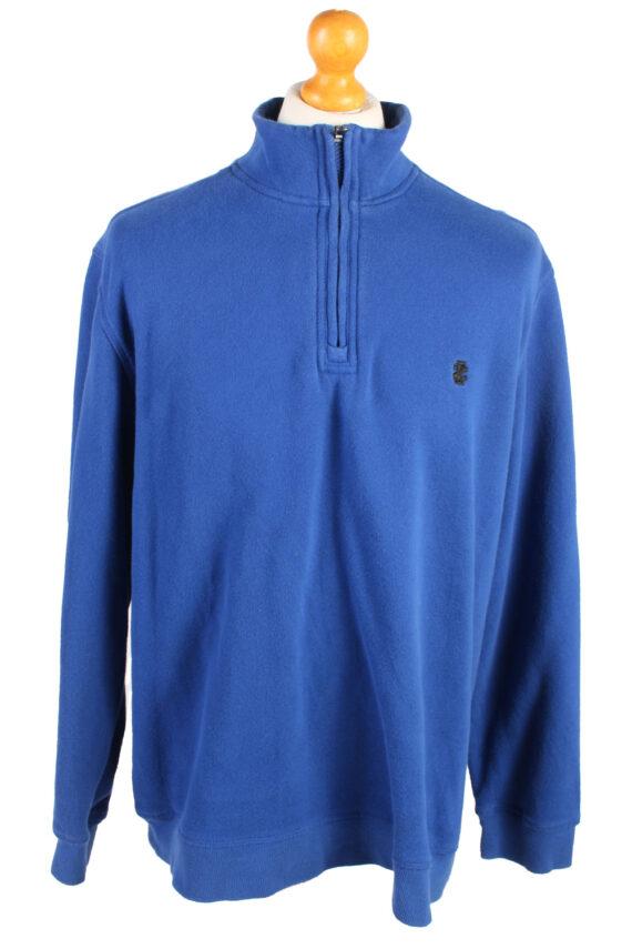 Izod Vintage Tracksuits Top Shell Sweatshirt XL Blue -SW2146-0