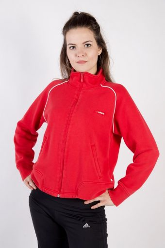 Adidas Track Top High Neck 90s Red M