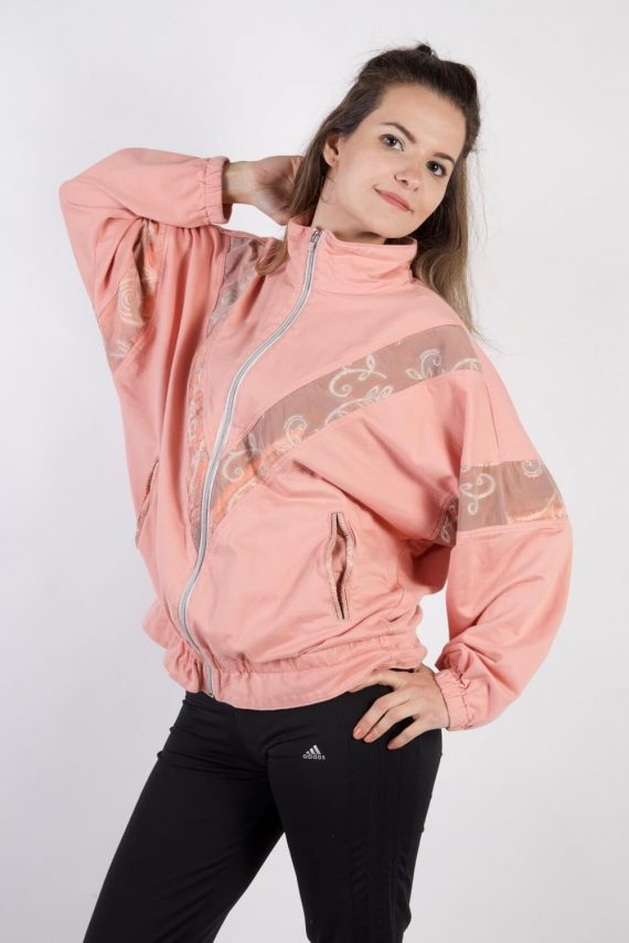 Vintage Authentic Tracksuits Top Shell Sportlife Style L Pink -SW2202-0