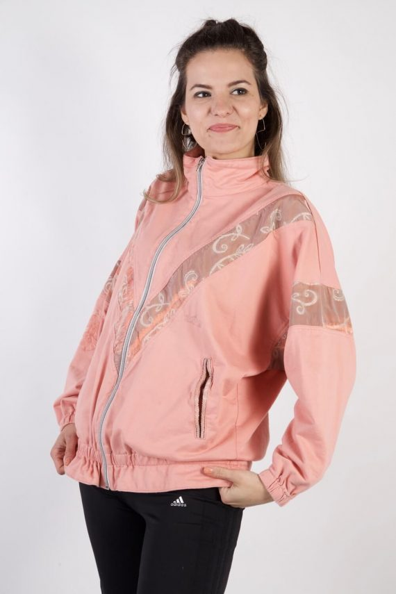 Vintage Authentic Tracksuits Top Shell Sportlife Style L Pink -SW2202-105604