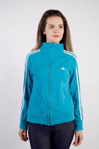 Adidas Track Top 90s Retro High Neck Blue L
