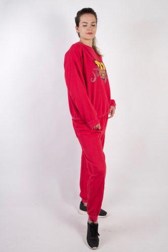 Vintage Model Tracksuits Set Top Bottom L Pink -SW2214-105769