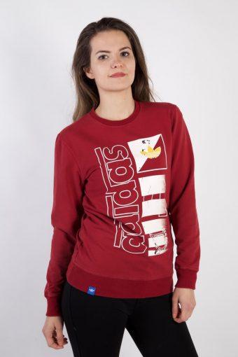 Adidas Crew Neck Sweatshirt 90s Retro Maroon M