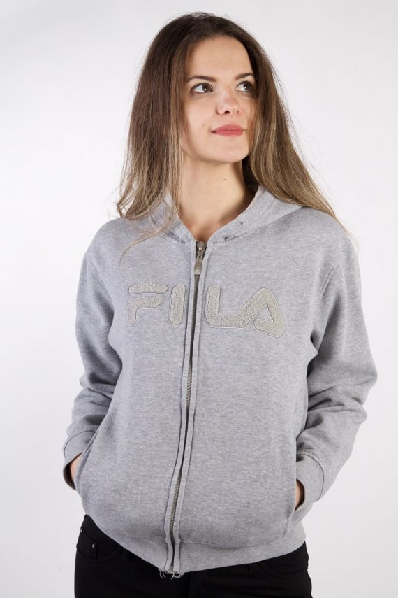 Vintage Fila Tracksuits Top Shell Hoodies S Grey -SW2238-0