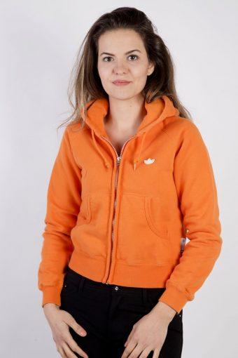 Adidas Track Top Hoodie 90s Retro Orange XS