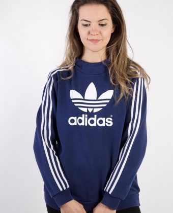 Vintage Adidas Tracksuits Top Shell Hoodies S Blue -SW2263-0