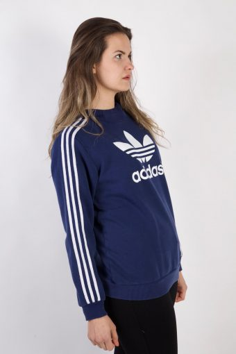 Vintage Adidas Tracksuits Top Shell Hoodies S Blue -SW2263-105835