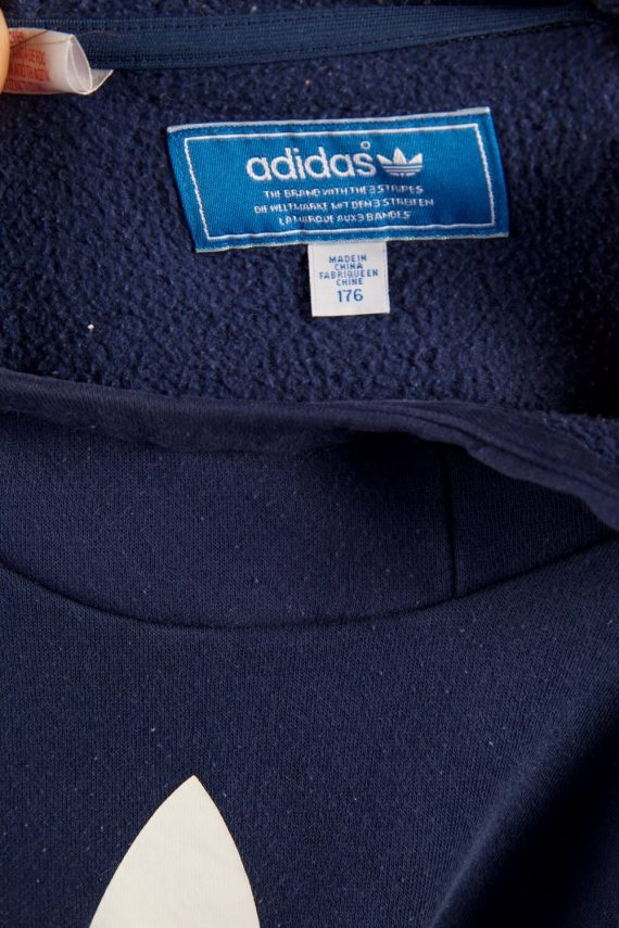 Vintage Adidas Tracksuits Top Shell Hoodies S Blue -SW2263-105837