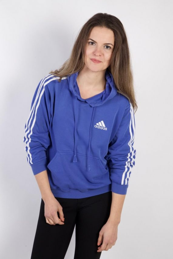 Vintage Adidas Tracksuits Top Shell Hoodies S Blue -SW2264-0