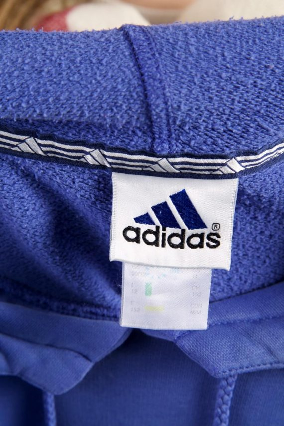 Vintage Adidas Tracksuits Top Shell Hoodies S Blue -SW2264-105840