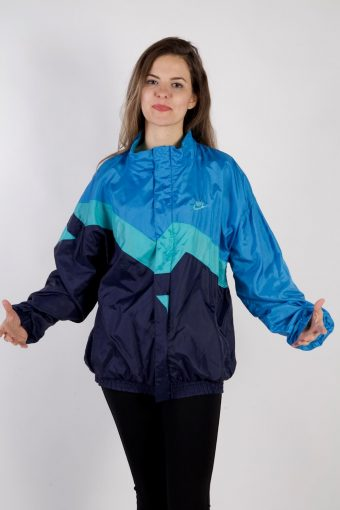 Nike Shell Track Top High Neck 80s Blue XL