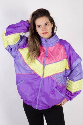90s Retro Track Top Shell High Neck Lilac L